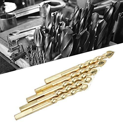 Brocas ranuradas Brocas Herramientas manuales duraderas eficaces para perforar vidrio(5 sticks 10mm)
