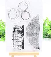 ラインパターンの背景透明なクリアシリコンスタンプシールDIYスクラップブッキングフォトアルバム装飾的なクリアスタンプA364