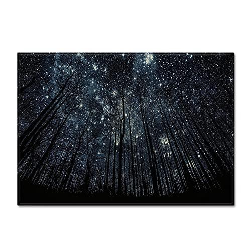 NTtie Mattor vardagsrum fluffiga moderna mattor stor matta med stjärnhimmel mönster för sovrum