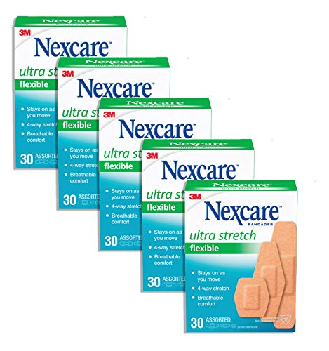Nexcare Comfort Fabric Bandages Assorted 30 Each (Pack of 5)