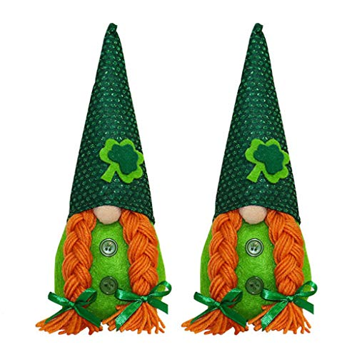 Selma. Irish March Festiva Day Gnome Leprechaun Shamrock Handmade Swedish Tomte Plush Toys Doll Household Ornaments for Girlfriend Valentine's Mother's Day Present