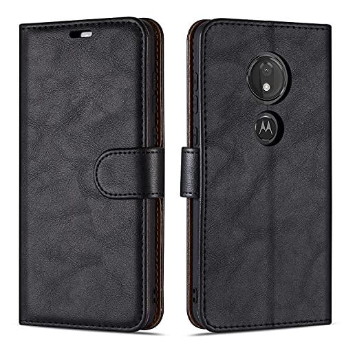 Hülle Collection Hochwertige Leder hülle für Motorola Moto G7 Play Hülle (5,7