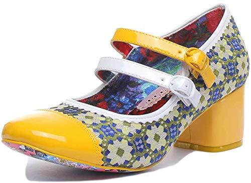 Irregular Choice Mini Mod Pumps Damen Gelb/Grün - 40 - Pumps Shoes