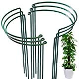 """6 Pack Plant Support Plant Stakes, LEOBRO Metal Plant Supports for The Garden, Plant Cage, Plant Support Ring, Plant Support Stake for Tomato, Hydrangea, Indoor Leafy Plants, 9.4"""" Wide x 15.6"""" High"""
