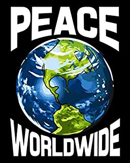 Peace Worldwide: Peace Worldwide Mother Earth Pacifist Hippie Hipster 2021-2022 Weekly Planner & Graude Journal (110 Pages...