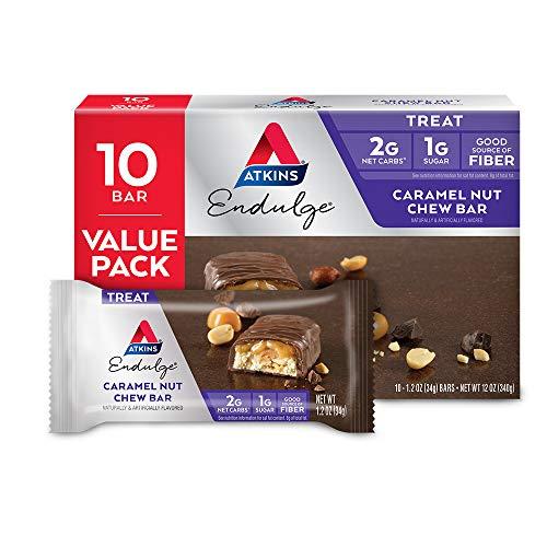 Atkins Endulge Treat Caramel Nut Chew Bar Keto Friendly 10 Count Value Pack