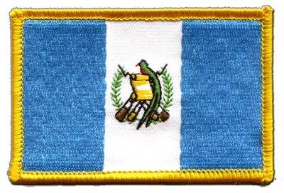 Aufnäher Patch Flagge Guatemala - 8 x 6 cm