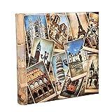 ARPAN - Álbum de Fotos, para 200 Fotos de 10 x 15 cm, con diseño Vintage, Collage destinos Europeos, Multicolor