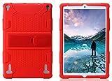 AKNICI YOTOPT Funda Protectora - 10 Pulgadas Tablet Funda de Silicona para DUODUOGO P8 P6/YOTOPT 10/GOODTEL G2/HMAI 10/YESTEL X2/Novel TTT 10/NAQU 10/Allmeida 10 con Soporte Incorporado - Rojo