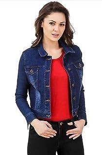 0af7b0c0e King-Denim Shree Kmt Enterprises Half Sleeves Comfort Fit Regular Collar  Blue Jacket for Women