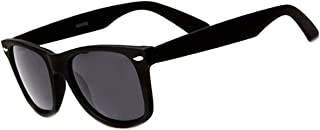 Retro Rewind Polarized Sunglasses (Black Matte, Polarized)