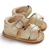 1 par de zapatos de princesa zapatos de bebé transpirable sandalias sólidas finas mano de obra recién nacido bebé antideslizante sandalias planas para salir de oro 12 cm