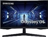 Samsung Monitor LC27G53TQWUXEN - Monitor Gaming Curvo da 27 Pollici G53, 144Hz, 1000R, 1 ms, AMD Freesync Premium, Nero, Versione 2020