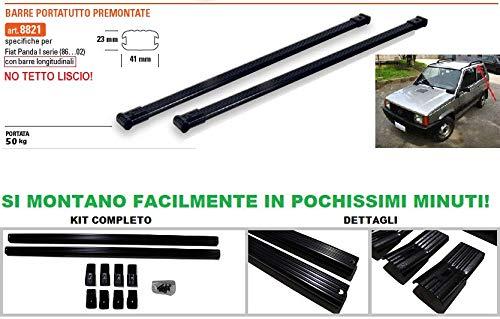GEV Barre PORTATUTTO Premontate Specifiche Fiat Panda I Serie Fino al 2002 Nero Acciaio 8821