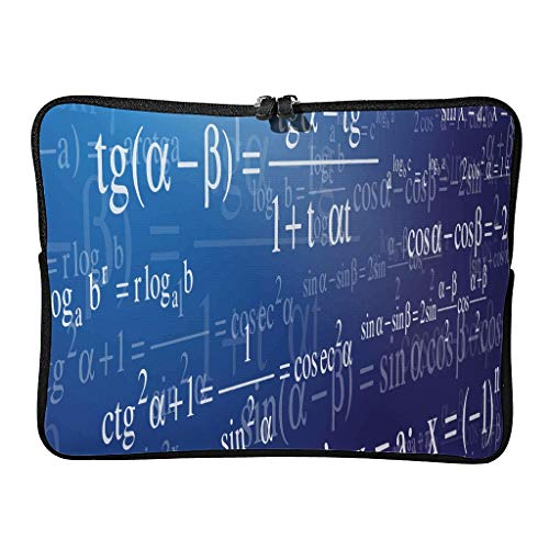 5 Sizes Funny Math Galaxy Laptop Bags Slim Water Resistant - Love Math Tablet Bags Suitable for School white6 15 Zoll