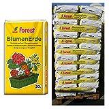 120 Sack Blumenerde FOREST á 20 Liter = 2400 Liter Pflanzerde Erde aus Bayern