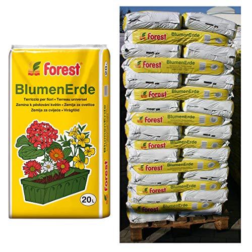 120 Sack Blumenerde FOREST á 20 Liter = 2400 Liter Planzerde Erde aus Bayern
