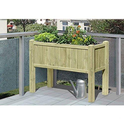 Gartenwelt Riegelsberger surélevée en Bois pour clôture 109 x 46 x 80 cm avec 3 x pflanzkasteneinsatz, idéal pour Les Herbes aromatiques pour Balcon et terrasse