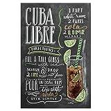artboxONE Poster 30x20 cm Cocktails Typografie Cuba Libre