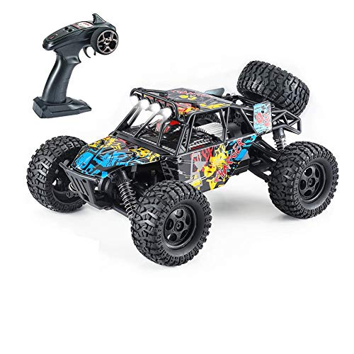 Fcoreey Remote Control Car, RC Trucks for Adults 4x4 Off-Road 1:14 Scale 48km/H High-Speed RC Car,2.4 GHz All Terrain SUV,Included 2 Pairs Rechargeable Batteries,Toy Gifts for Boys and Adults