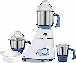Preethi Blue Leaf Diamond mixer grinder, 750 watt, 3 jars & Flexi Lid (Blue/ White)