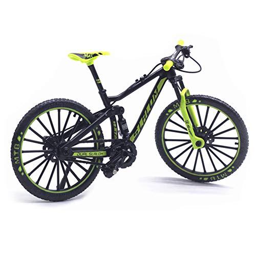 Akaddy 1:10 Alloy Bike Fahrzeug Modell Kinder Mountainbike Spielzeug Spielzeug (Grün)