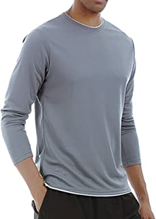 PASATO Men's Sport Long Sleeves Absorption Sweat Breathability Fast Drying Fitness Tops