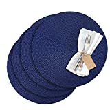 Westmark Tischsets/Platzsets, 4 Stück, Ø 38 cm, Polypropylen, Blau, Saleen Edition: Circle