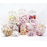 12 Pot vintage style victorien Pick & Mix Sweet Shop Candy Buffet kit...