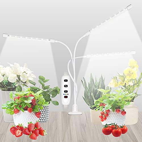 SUWITU Pflanzenlampen LED, 60W Grow Light für Zimmerpflanzen, 144 LEDs Pflanzenlicht mit Timing Funktion, 10 Helligkeitsstufen, 3 Modi Wachstumslampe Wachsen licht für Sämlinge wachsende & blühende