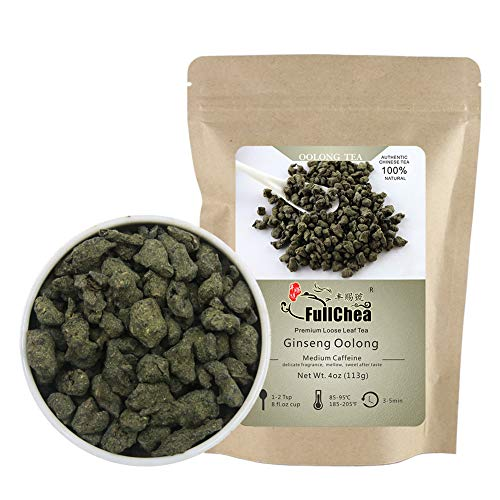 FullChea - Ginseng Oolong Tea - Oolong Tea Loose Leaf - Imperial Ginseng Tea - Natural Lan Gui Ren - Ren Shen with Unique Aroma and Taste 4oz / 113g