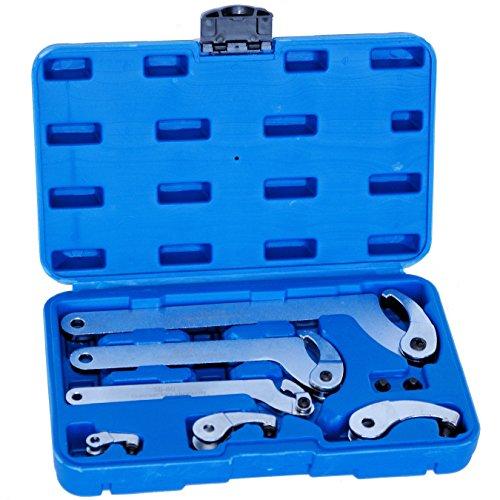 Gelenk Hakenschlüssel Zapfenschlüssel Nutenschlüssel Set für Nutmuttern und Wälzlagermuttern 6329
