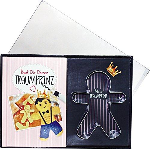 Back Dir Deinen Traummann Backset Geschenke Set Box für Frauen mit Traumprinz Backform Prinz Mann backen 14006