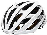 Bell Unisex - Casco de Bicicleta Stratus MIPS Reflective para Adultos, Blanco Mate/Plateado, M