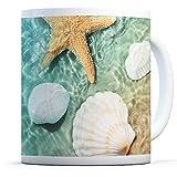Taza con diseño de estrella de mar de concha de mar para cocina, cumpleaños, oficina, regalo divertido #16972