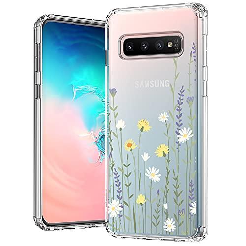 MOSNOVO Clear Cover Samsung Galaxy S10, Assorbimento degli Urti, Custodia Sottile Morbida TPU paraurti in Trasparente Copertura del Telefono - Prato Selvaggio