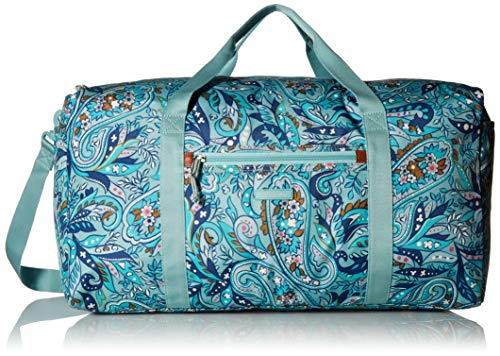 Vera Bradley womens Lighten Up Large Travel Duffel, Polyester, Daisy Paisley, One Size