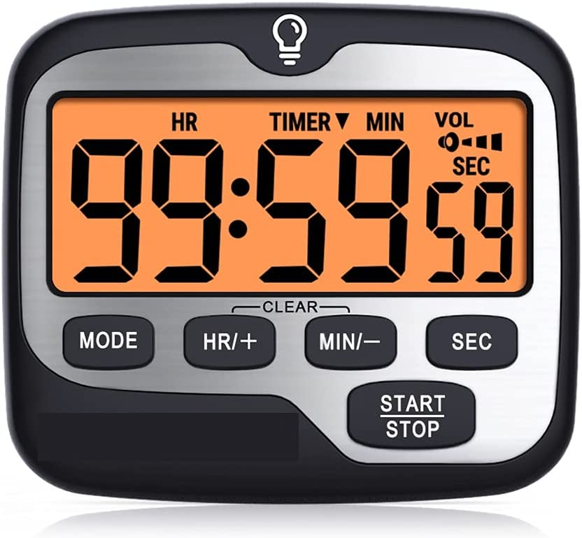 San Jose Mall tqbhd Digital Cooking Kitchen Timer Backlight with Rapid rise Large Display