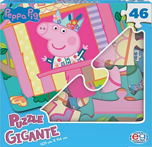 Peppa Pig 6056257 - Puzzle Gigante y Personalizado, de 46 Piezas, diseñado para Las pequeñas Manos de los niños, a Partir de 4 años