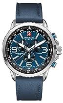 Swiss Military Hanowa Herren-Armbanduhr XL ARROW Chrono Analog Quarz Leder 06-4224.04.003