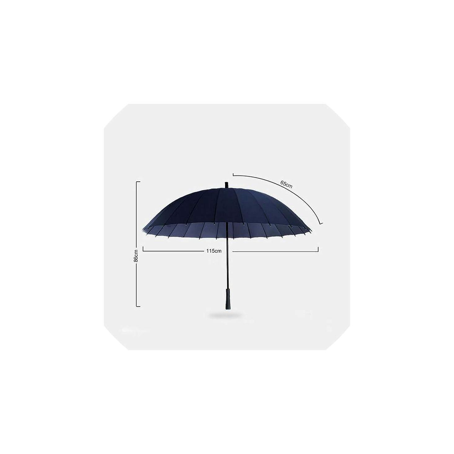 Rain Umbrella 24K Strong Windproof Glassfiber Frame Long Handle Umbrella Women Parasol P2XKL6073001YW,P2XKL6073001YW