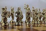 GiftHome (sólo piezas de ajedrez) Históricas hechas a mano figuras de Roma piezas de ajedrez de metal tamaño grande King 4.3 Inc (tabla no está incluida)
