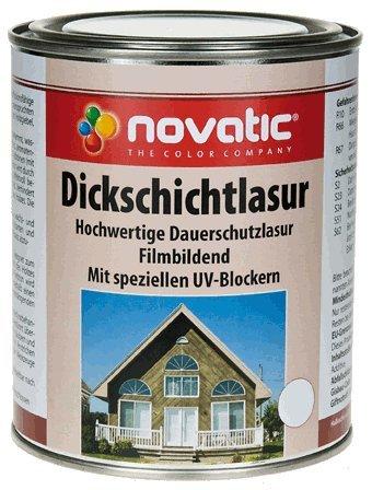 novatic Dickschichtlasur - Mahagoni - 750 ml - Dauerschichtlasur mit UV-Blockern