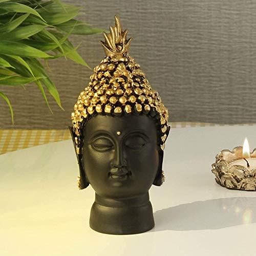 TIED RIBBONS Buddha-Kopf-Statue, Ornament, Skulptur für Heimdekoration, Buddha-Kopf, Schaustück, dekorativer Buddha für Haus, Garten und Geschenke,...