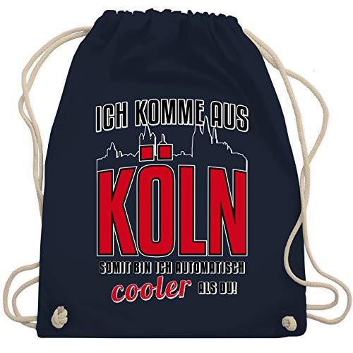 Städte - Ich komme aus Köln - Unisize - Navy Blau - köln - WM110 - Turnbeutel und Stoffbeutel aus Baumwolle