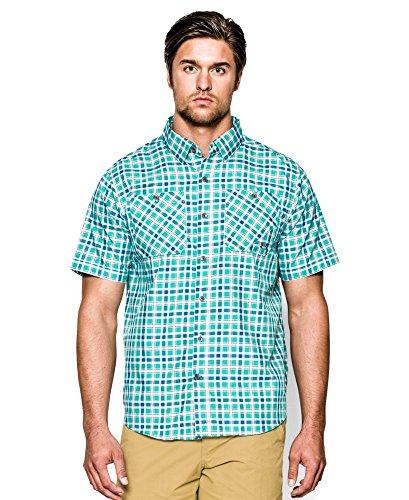 Under Armour UA Chesapeake SS Plaid Shirt - Men's Gazebo Green Plaid...