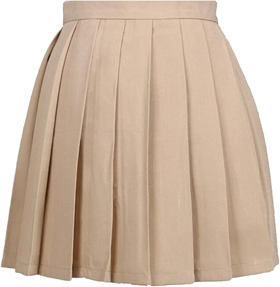 Women's Skirts Ladies Pleated Cos Macarons Solid Color High Waist Skirt Female Clothing for Women Casual