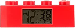 Lego 9002168 Red Brick Kids Light Up Alarm Clock | red | Plastic | 9.5 inches Tall | LCD Display | boy Girl | Official