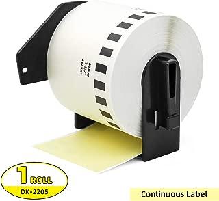 Label Orison-Replace DK-2205 Yellow Continuous Paper Tape Labels DK22205 62mm x 30.48m(2-3/7