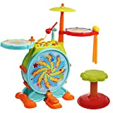 IQ Toys Toddler Drum Set - My First Musical Electric Toy Drum Set for...